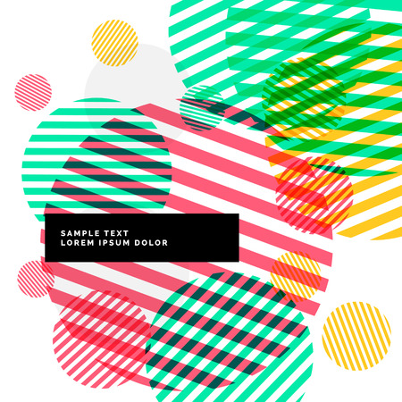 colorful stripes: abstract colorful circles stripes background Illustration