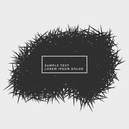 grunge background: abstract grunge spikes background
