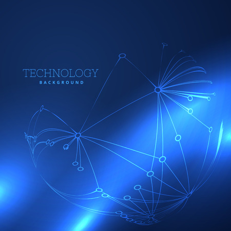 technology background: abstract blue technology background