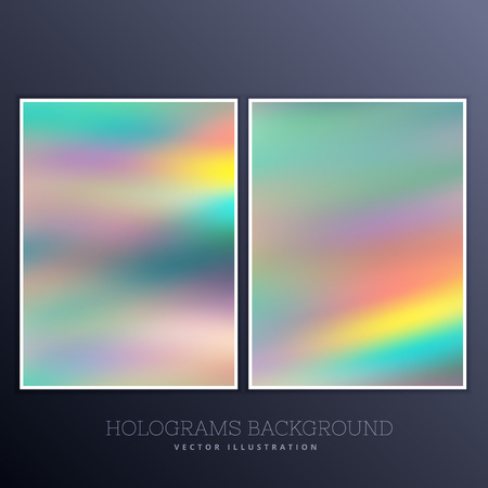 hologram: beautiful hologram background set