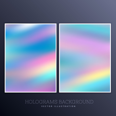 holography: ser of holographic background with vibrant colors