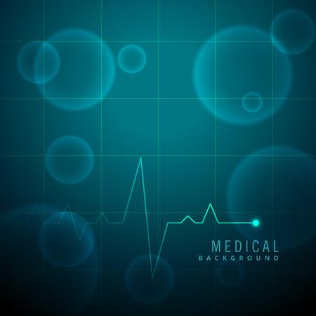 lifeline: life line heartbeat medical background Illustration