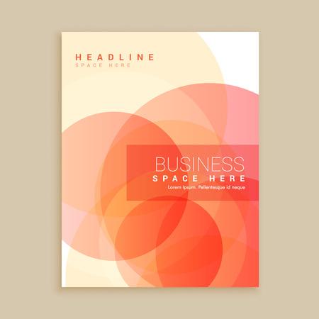 magazine template: orange magazine cover poster template
