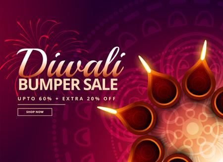 diya: diwali sale with diya decoration