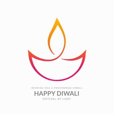 artistieke diwali diya op een witte achtergrond