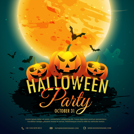 party background: halloween festival party background Illustration