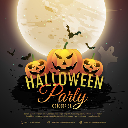 scart: scart halloween pumpkins party invitation Illustration