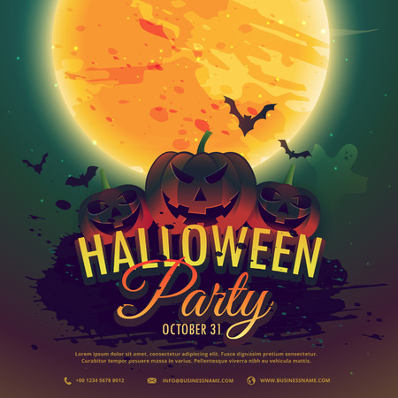halloween background: halloween party invitation background