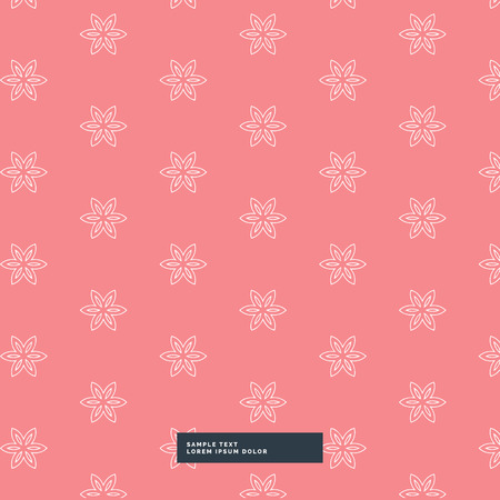 simple background: cute simple flower pattern background Illustration