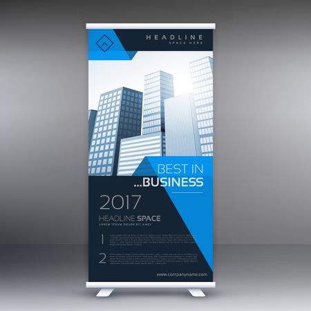 display: company roll up banner display Illustration