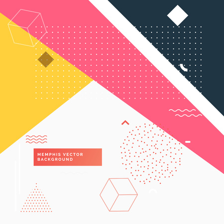 colorful abstract geometric memphis background Illustration