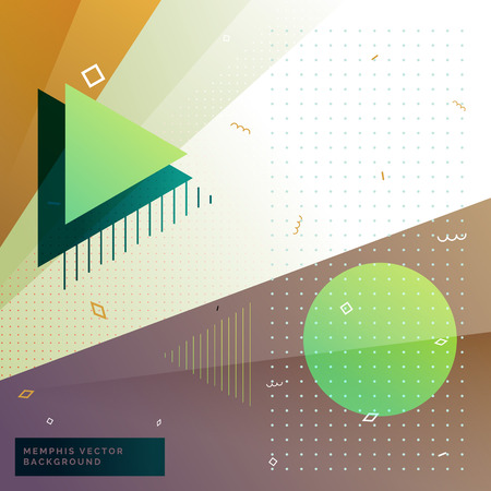 memphis: geometric memphis style background