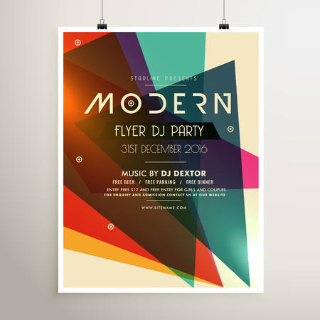 Modern Retro Style Party Flyer Poster Template Royalty Free Cliparts ...