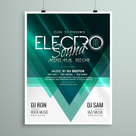 remix: beautiful electro club party flyer template design