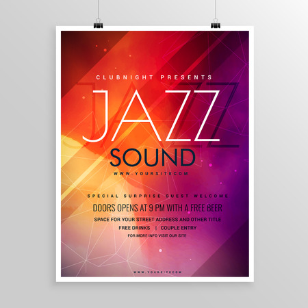 abstract music: music sound party flyer invitation template