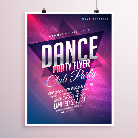 party club: dance club party flyer template