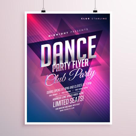 remix: dance club party flyer template