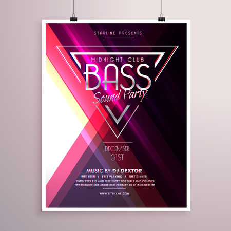 event party: creative music party flyer poster event invitation template