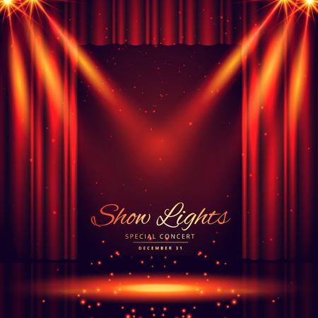 ライト フォーカスを持つ美しい劇場の舞台