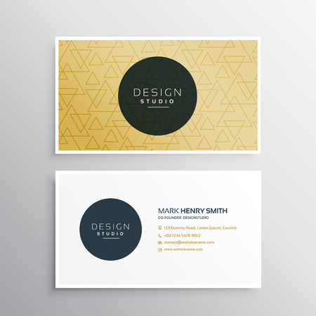 minimal: business card template in minimal shape