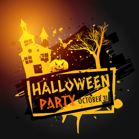 party background: halloween party celebration grunge background Illustration
