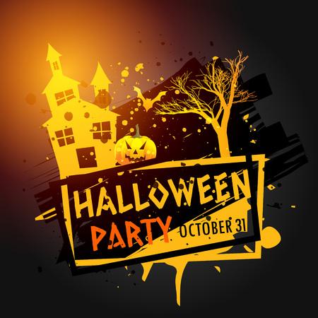 celebration party: halloween party celebration grunge background Illustration