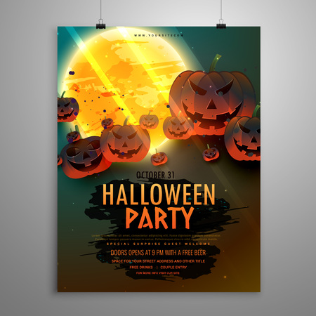 halloween party: halloween party flyer template