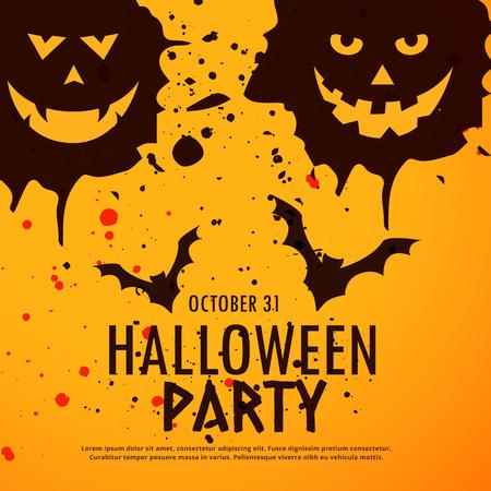 halloween background: halloween party grunge background
