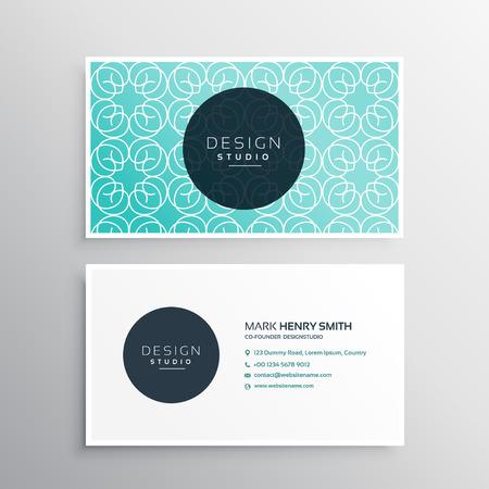 carte de visite moderne motif bleu