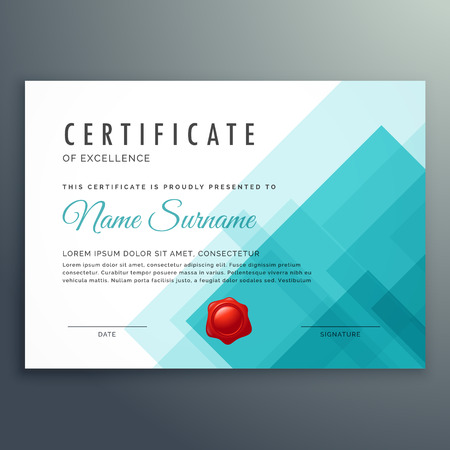 excellence: certificate of excellence template