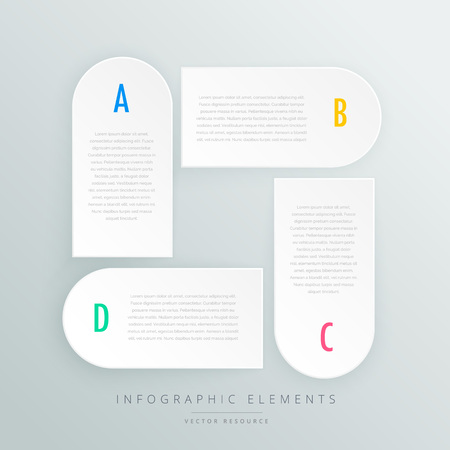 presentaion: white infographic steps presentaion template