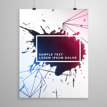 ink drop: abstract ink drop flyer poster template