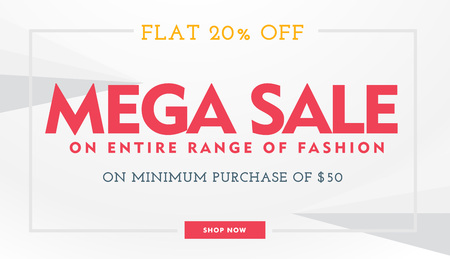 mega sale: mega sale banner template in white and red colors