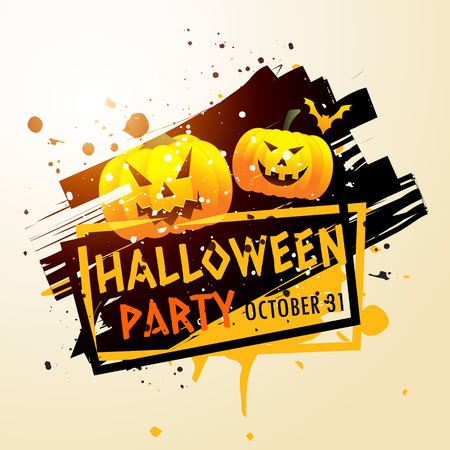 halloween party: happy halloween party poster Illustration