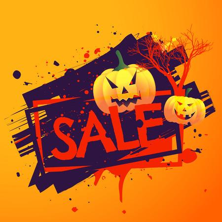 halloween background: halloween seasonal sale background
