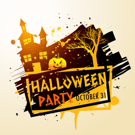 party background: creepy halloween party celebration background Illustration