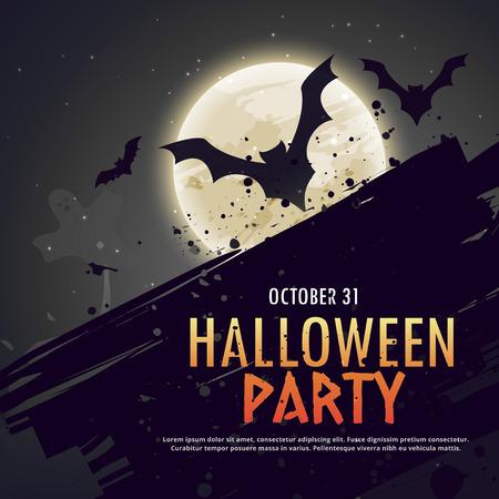 flying bats: flying bats spooky hallowen background