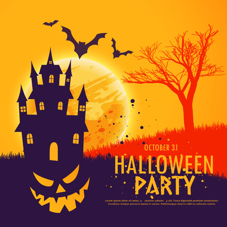 scary halloween festival party invitation background