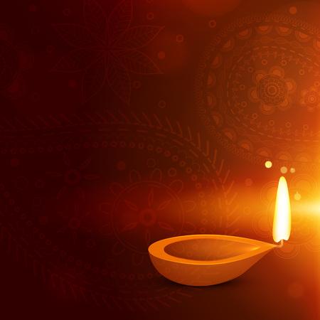 beautiful diwali background with diya. diwali greeting