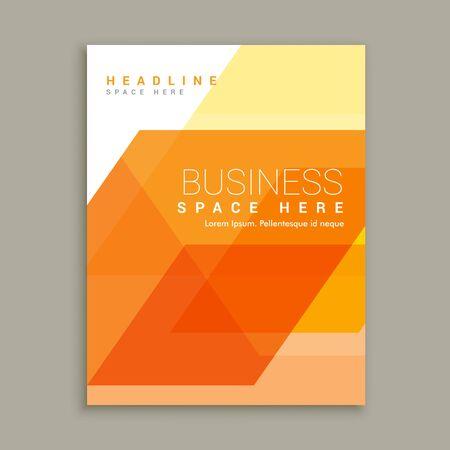 magazine template: orange business magazine brochure template