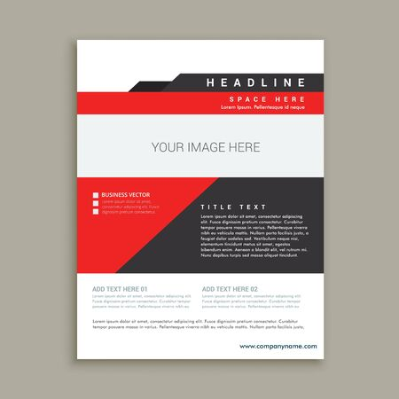 magazine template: business magazine poster template Illustration