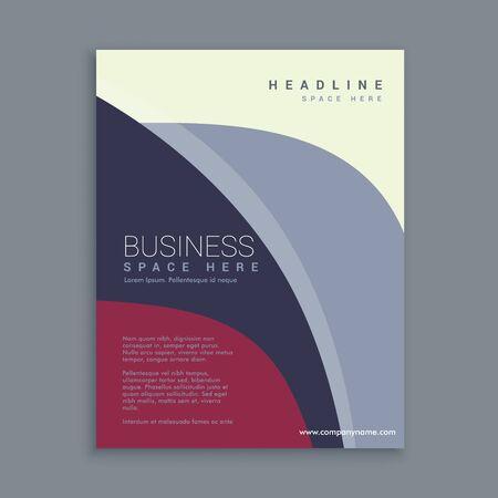 magazine template: corporate magazine page template