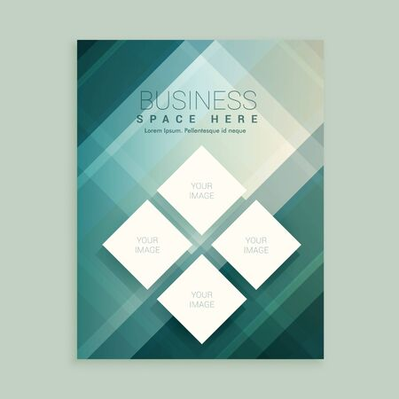 magazine template: company magazine cover template with abstract shapes