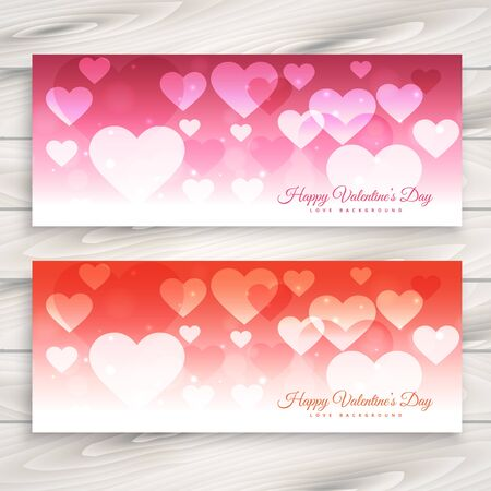 day: valentines day banners set