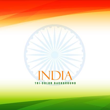 indian flag tricolor background Illustration
