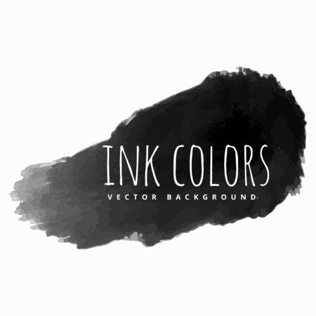 paint strokes: black ink paint strokes Illustration