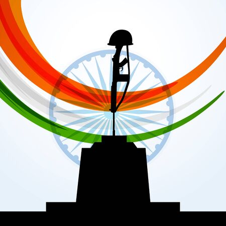 patriotic indian flag design Illustration