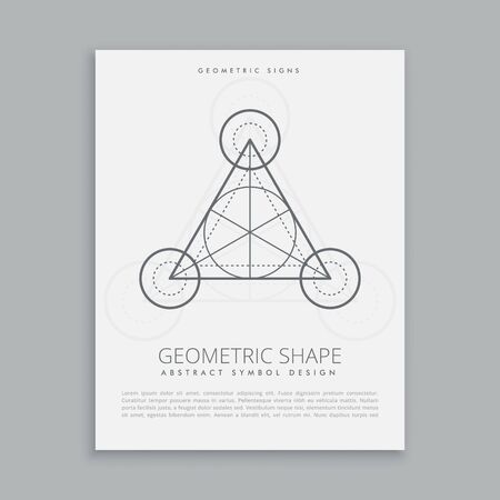 alchemy: geométrica sagrada cartel de la alquimia símbolo