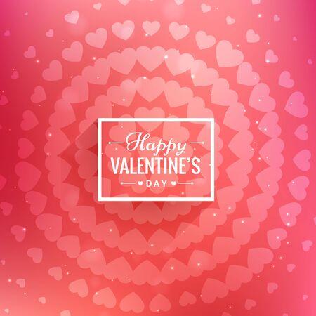 day: happy valentines day greeting Illustration