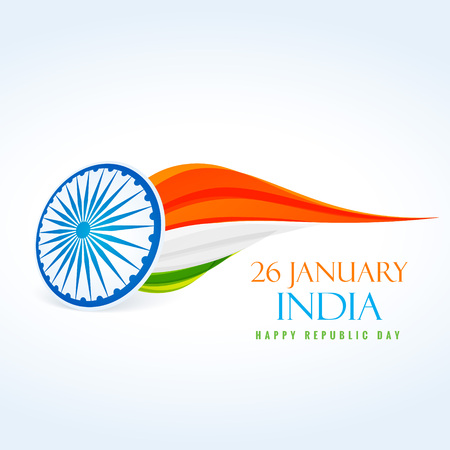 26 january: 26 january republic day design Illustration